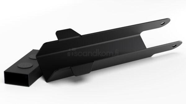Nostosalpa käyntiportti musta ral 9005
